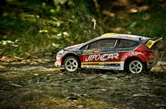 Coche Ford Fiesta WRC de la reunión de Rc Imágenes de archivo libres de regalías