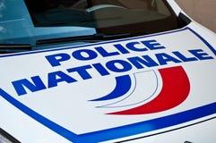 Coche francés de la policía Foto de archivo