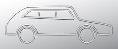 Coche fuera del alambre de acero Ilustración del Vector