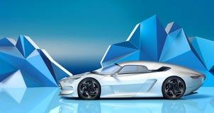 Coche futurista del concepto 3d ilustración del vector