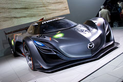 Coche gris del concepto del furai de Mazda Imágenes de archivo libres de regalías