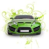 Coche híbrido verde Fotografía de archivo libre de regalías