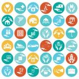 Coche, hogar, desastres, inversión, salud, y viaje i del seguro Imágenes de archivo libres de regalías