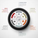 Coche infographic Imágenes de archivo libres de regalías