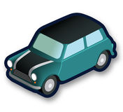 Coche isométrico de Mini Moris Imagen de archivo libre de regalías