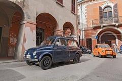 Coche italiano Autobianchi 500 Giardiniera del vintage Imágenes de archivo libres de regalías