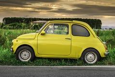 Coche italiano Fiat Abarth del pequeño vintage Fotos de archivo libres de regalías