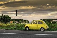 Coche italiano Fiat Abarth del pequeño vintage Imagen de archivo libre de regalías