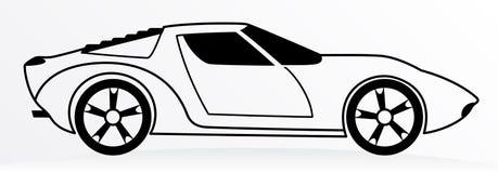 Coche Logo Abstract Lines Vector Ilustración del vector Foto de archivo