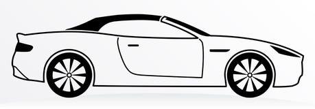 Coche Logo Abstract Lines Vector Ilustración del vector Imagen de archivo