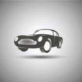 Coche Logo Design Vector del vintage del transporte Imagen de archivo libre de regalías