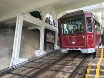 Coche máximo de la tranvía en Hong Kong Fotos de archivo libres de regalías