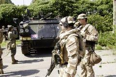 Coche militar foto de archivo