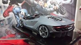 Coche modelo lleno de escala del carbono de Lamborghini Centenario Imágenes de archivo libres de regalías