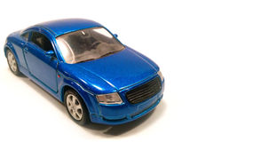 Coche moderno azul Imagen de archivo libre de regalías