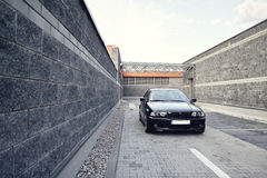 Coche moderno negro, cupé de BMW E46 Imágenes de archivo libres de regalías