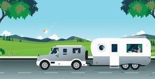 Coche natural de la caravana libre illustration