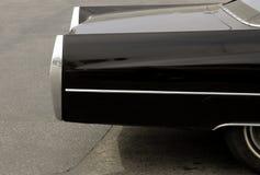 Coche negro con cromo Imagen de archivo libre de regalías