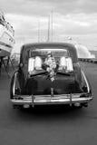 Coche negro de la boda Imagen de archivo libre de regalías