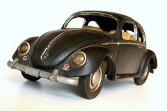 Coche negro del juguete Fotografía de archivo libre de regalías