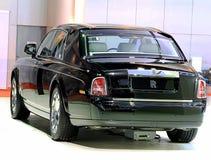 Coche negro del lujo de Rolls Royce Foto de archivo libre de regalías
