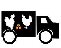 Coche para el transporte de los productos de las aves de corral Imágenes de archivo libres de regalías