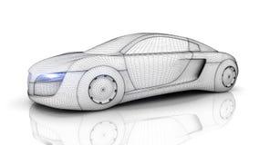Coche a partir del futuro ilustración del vector