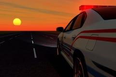 Coche patrulla Imagen de archivo libre de regalías