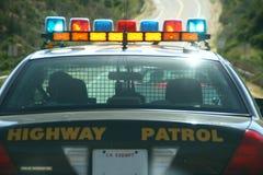 Coche patrulla de la carretera Imagenes de archivo