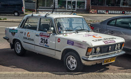 Coche polaco Polski Fiat 125p de la obra clásica Imágenes de archivo libres de regalías