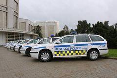 Coche policía Imagenes de archivo