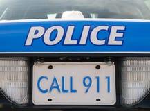 Coche policía 911 Foto de archivo libre de regalías