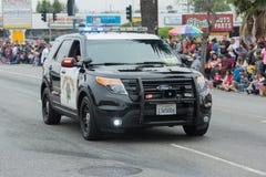 Coche policía Fotos de archivo