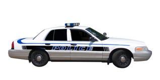Coche policía aislado Imágenes de archivo libres de regalías