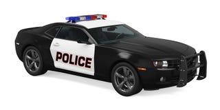 Coche policía aislado ilustración del vector