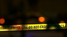 Coche policía con la sirena, Defocused almacen de metraje de vídeo