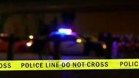 Coche policía con la sirena, Defocused metrajes