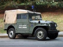Coche policía de la vendimia Foto de archivo libre de regalías