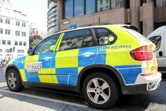 Coche policía de Londres Imágenes de archivo libres de regalías