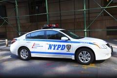 Coche policía de NYPD Imágenes de archivo libres de regalías