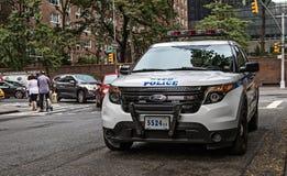 Coche policía de NYPD Foto de archivo libre de regalías