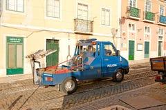 Coche policía de Portugal Fotos de archivo libres de regalías