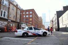 Coche policía de Toronto imagenes de archivo