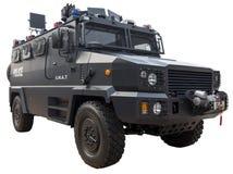Coche policía del GOLPE VIOLENTO imagen de archivo libre de regalías