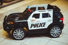 Coche policía del juguete Imagenes de archivo