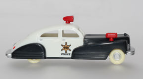 Coche policía del juguete Fotos de archivo libres de regalías