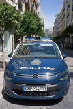 Coche policía del nacional de España Imágenes de archivo libres de regalías