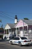 Coche policía en Key West Imagen de archivo libre de regalías