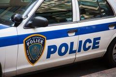 Coche policía en Nueva York Foto de archivo