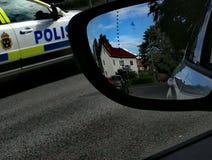 Coche policía en Suecia Imagen de archivo